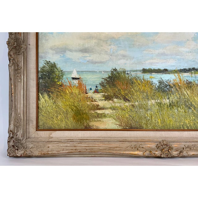French Seascape Painting by Lois Clark, Framed For Sale - Image 10 of 13