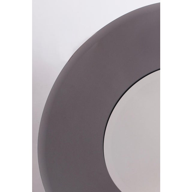 Abstract 1970s Industrial Sfumato-Grey Mirror For Sale - Image 3 of 4