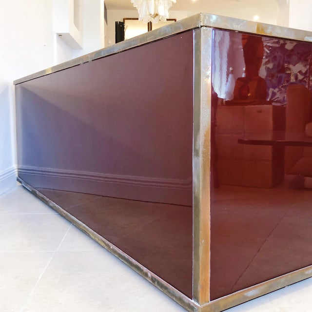 Giacomo Sinopoli for Liwan's of Rome, Italy Bronze Asian Hardware Credenza Sideboard, 1972 For Sale - Image 10 of 12