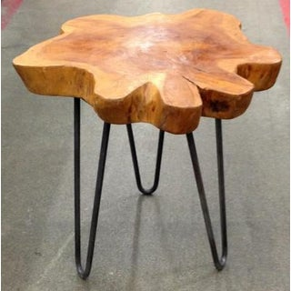 Indonesian Free-Form Teak on Custom Iron Stand Preview