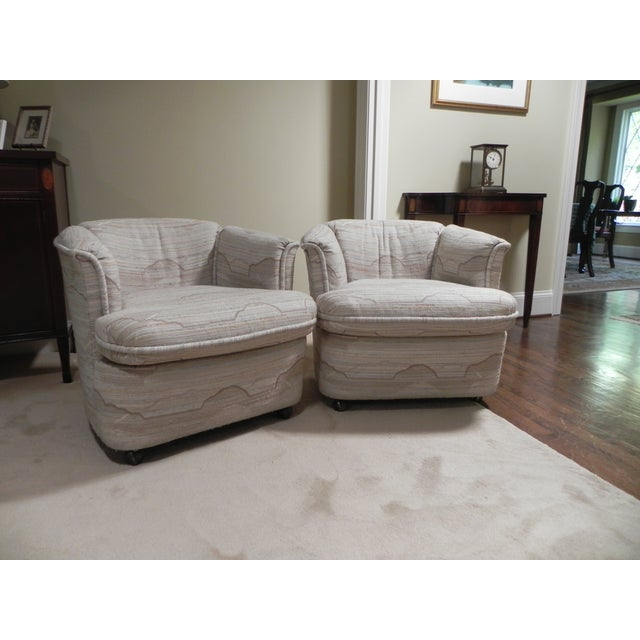 Drexel Contemporary Classics Barrel Chairs - Pair - Image 2 of 6