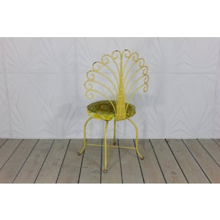 Vintage Mid Century Tony Paul for Thinline Iron Peacock Vanity Swivel Chair Preview