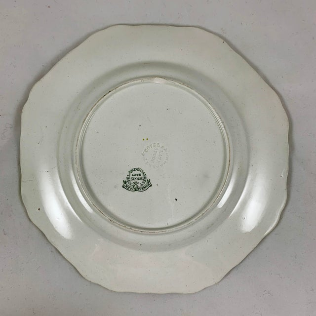 Ceramic Spode's New Fayence King Chintz Pattern Transferware Plate, Circa 1820s For Sale - Image 7 of 13