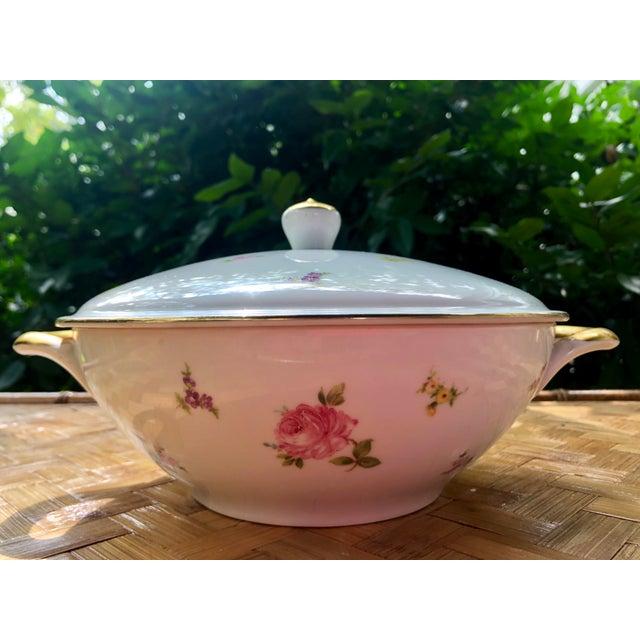 """Haviland """"Rose Chintz"""" Gilt Floral Porcelain Vegetable Tureen For Sale - Image 9 of 12"""