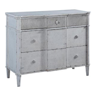 St. Denis Console Chest of Drawers Antiqued White For Sale