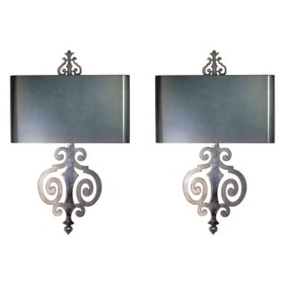Maison Charles Steel Sconces - A Pair For Sale