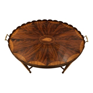 Mid-Century Modern Baker Furniture Collector's Edition Scalloped Tray Table For Sale