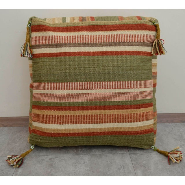 Turkish Hand Woven Floor Cushion Cover - Image 6 of 8
