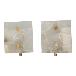 Mordern Albaster Sconces - A Pair For Sale