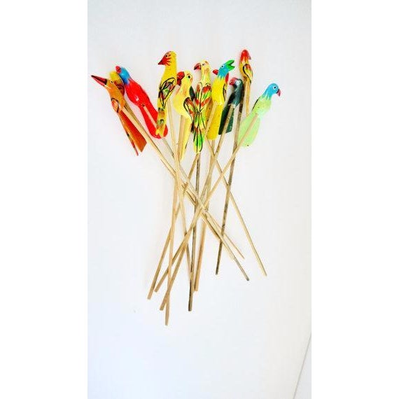 Birds of Paradise Cocktail Stirrers - Set of 12 - Image 2 of 6