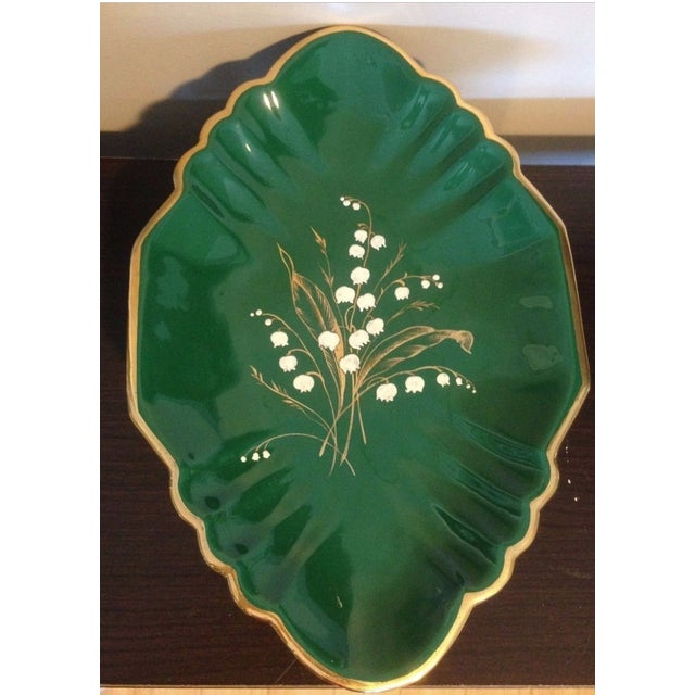 1930s Antique Egisto Fantechi Floral Majolica Porcelain Dish For Sale - Image 9 of 12
