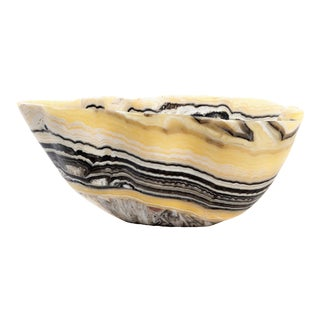 Tiger Striped Onyx Bowl For Sale