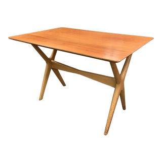 1960s Danish Modern X Base Side Table For Sale