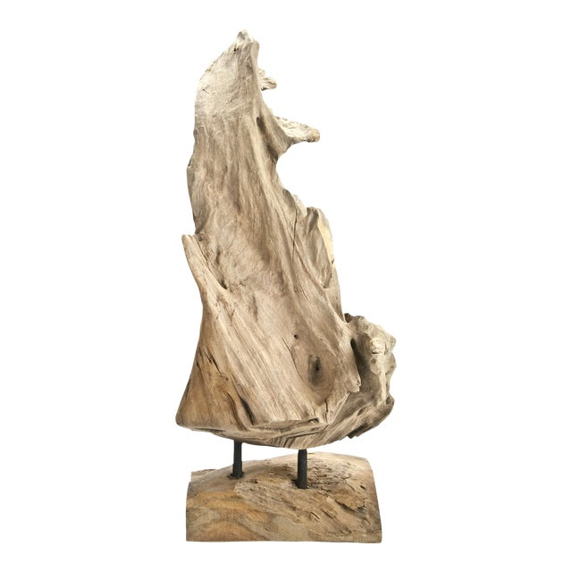 Indonesian Driftwood Fragment on Stand - Image 1 of 6