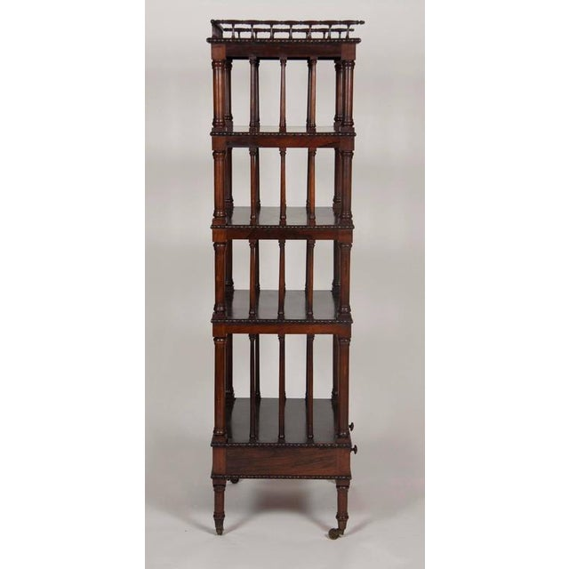 William IV Rosewood Whatnot/ Etagere For Sale In Boston - Image 6 of 10