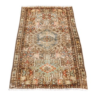 1930's Small Vintage Rug - 1′9″ × 2′8″ For Sale