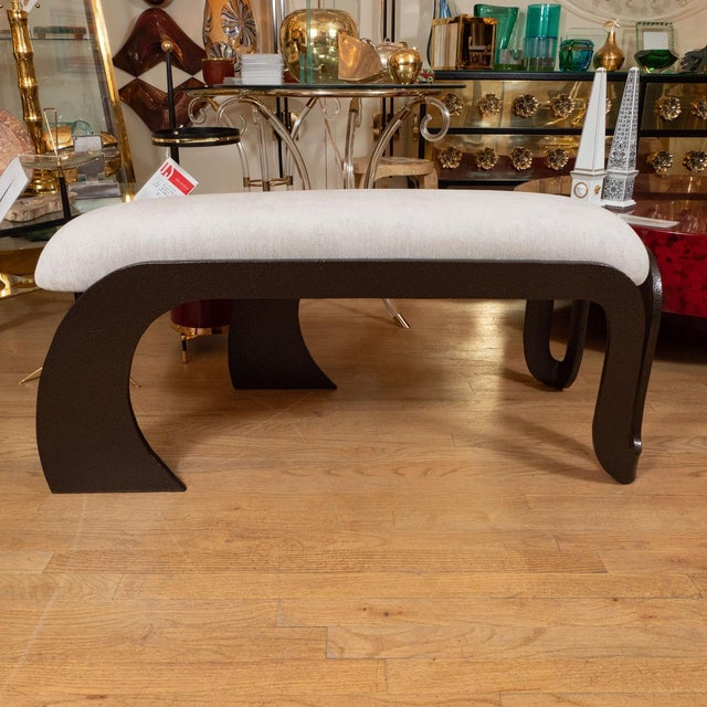 1960s Rectangular Upholstered Bench For Sale - Image 4 of 5