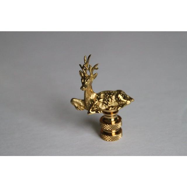 Brass Deer Lamp Finials - A Pair - Image 3 of 3