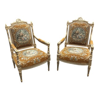 1970s Gilded Chairs** - a Pair For Sale