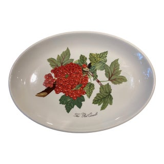 Portmeirion Pomona Vintage Red Currant Pattern Steak Plate or Serving Platter For Sale