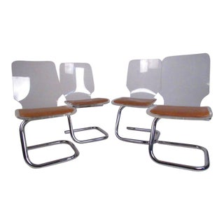 Luigi Bandini Vintage Modern Lucite Dining Chairs - Set of 4