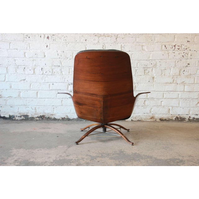 """Animal Skin George Mulhauser for Plycraft """"Mr. Chair"""" and Ottoman For Sale - Image 7 of 10"""