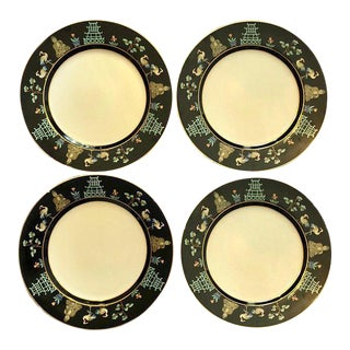 Fitz and Floyd Chinoiserie Dinner Plates - Set of 4