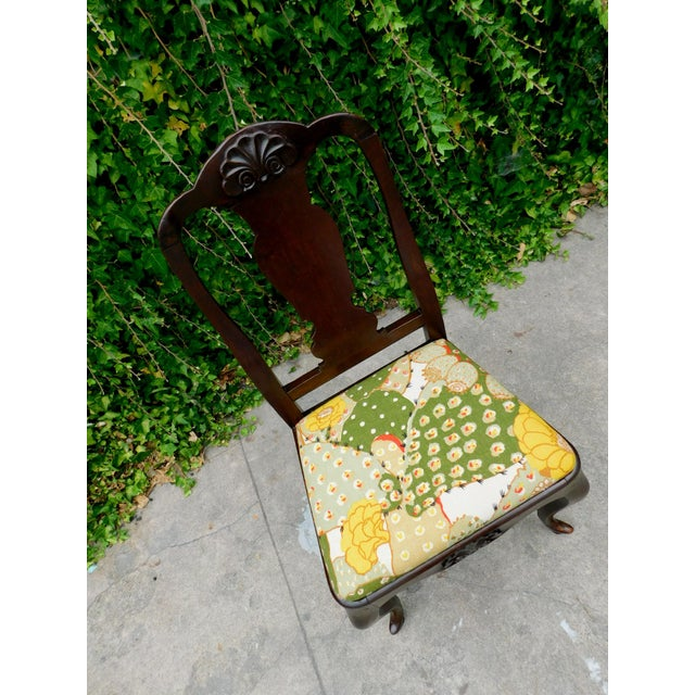Arts & Crafts Antique Botanical Cactus Chair For Sale - Image 3 of 9