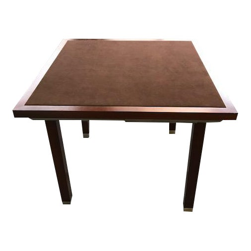 Suede Top Giorgetti Card Table - Image 1 of 3