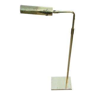 1960s Koch & Lowy Adjustable Brass Floor Lamp For Sale