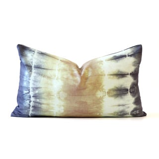 Green and Purple Tie-Dye Pillow For Sale