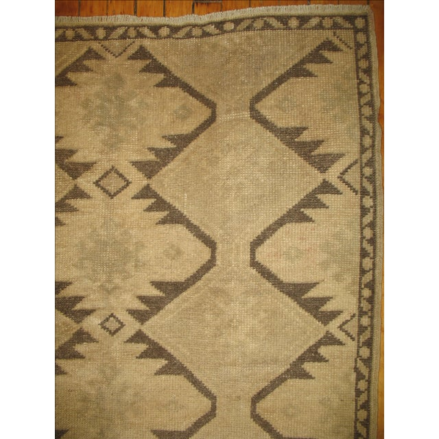 Boho Chic Vintage Turkish Geometric Runner - 3'6'' X 6'10'' For Sale - Image 3 of 4