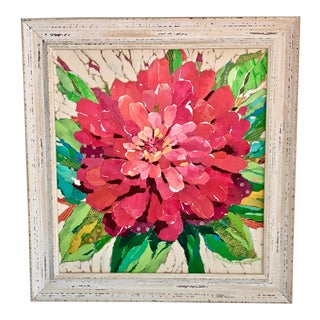 Pink Dahlia Collage For Sale