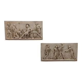 Vintage Figural Greek Roman Classical Frieze Panels - a Pair
