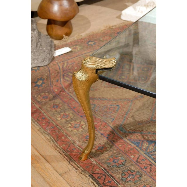 Bronze And Glass Coffee Table: Bronze & Glass Coffee Table