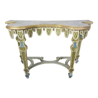Italian Painted Console C. 1940's For Sale