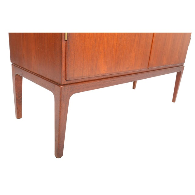 Tall Danish Modern Teak Bureau - Image 4 of 10