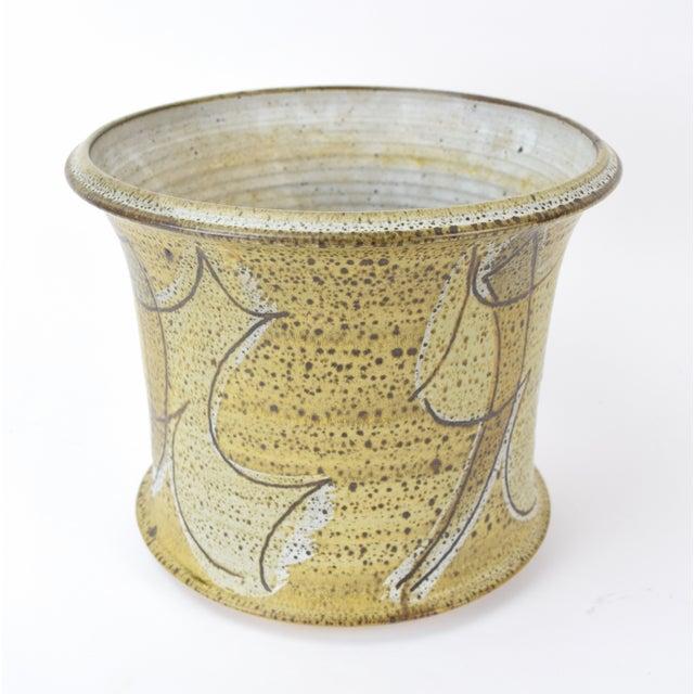 Vintage Alan Vigland Mid Century Modern Studio Pottery Vase For Sale In Chicago - Image 6 of 11