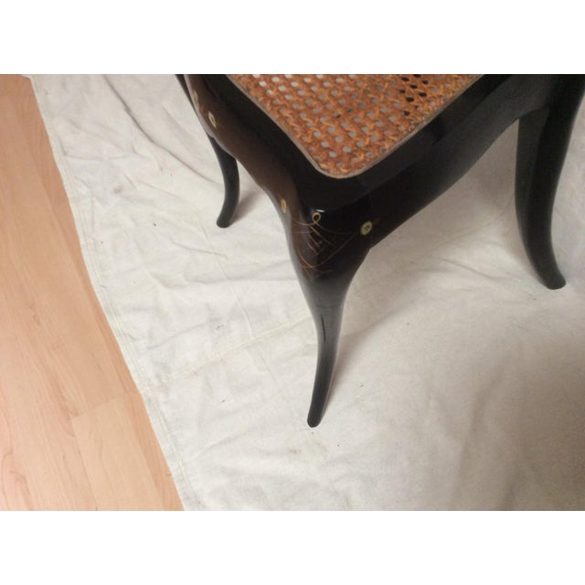 Italian Lacquered Chair With Mother of Pearl For Sale - Image 4 of 11