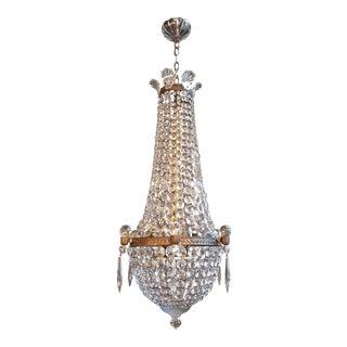 Montgolfièr Empire Sac a Pearl Chandelier Crystal Lustre Ceiling Lamp Art Nouvea For Sale