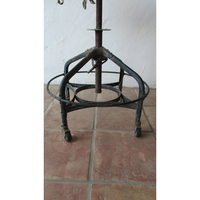 Metal Vintage Toledo Stool With Cushion For Sale - Image 7 of 11