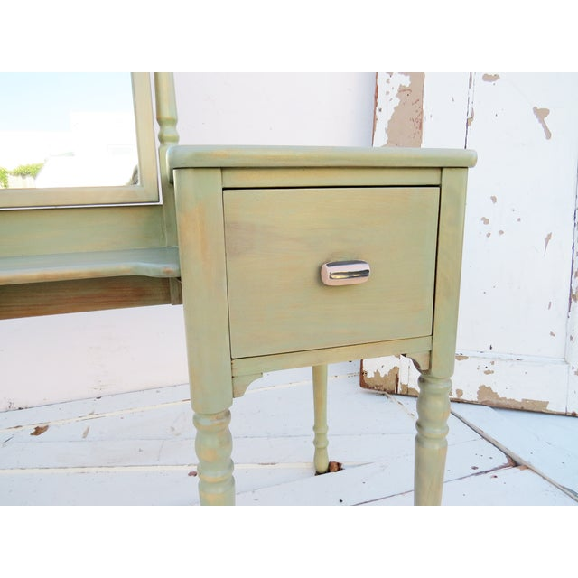 Vintage Painted Sand Dollar Vanity - Image 4 of 4