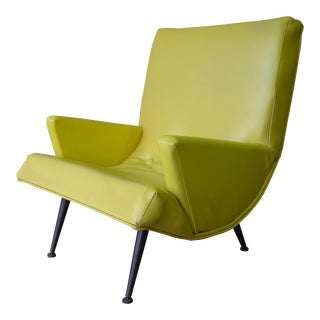 Tufted Mid Century Modern SCOOP CHAIR For Sale