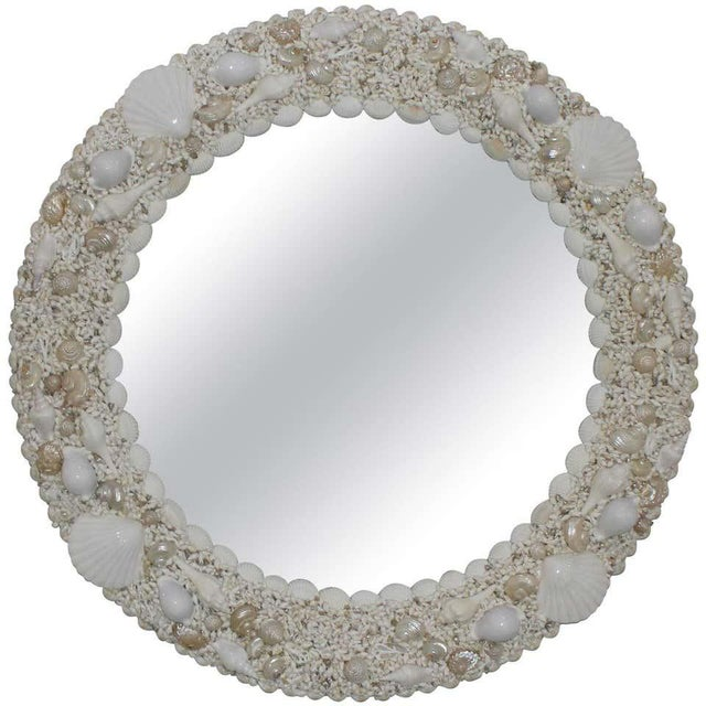 White Seashell Encrusted Mirror bySnob Galeries For Sale - Image 13 of 13