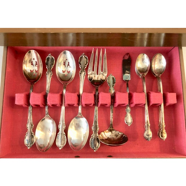 """1959 """"Reflection""""Flatware Set/ 80 Pieces For Sale In Miami - Image 6 of 13"""