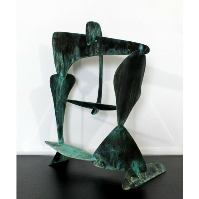 Abstract Mid Century Modern Brutalist Copper Metal Abstract Table Sculpture 1970s For Sale - Image 3 of 7