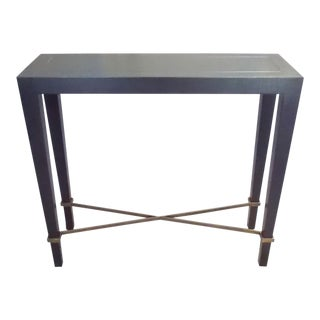 Black Crackle Lacquer Custom Console For Sale
