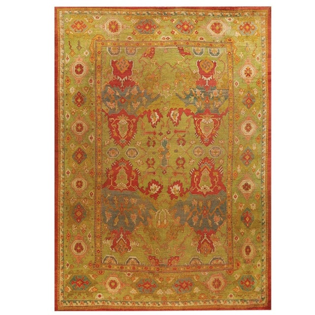 """Antique Oushak Rug 10'8"""" X 14'6"""" For Sale In New York - Image 6 of 6"""