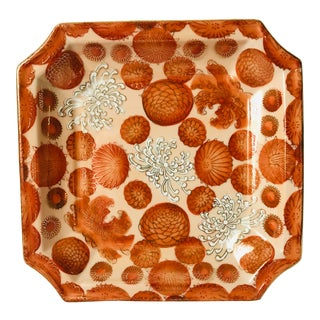 Andreá by Sadek Decorative Dish in Coral For Sale