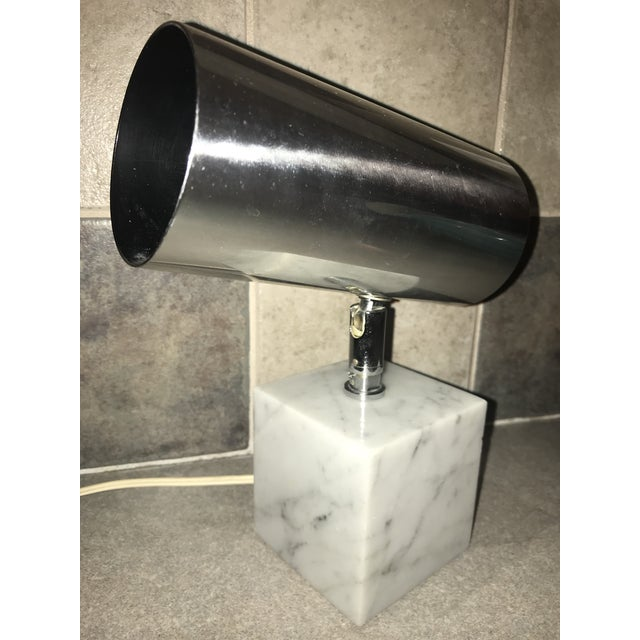 White 1960s Vintage Koch & Lowy Carrera Marble Base Table Lamp For Sale - Image 8 of 10